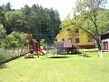 Chalupa Vyhne - záhrada, detské ihrisko